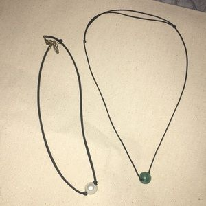 Two adjustable choker necklaces